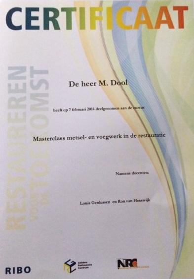voegbedrijf-marvin_certificaat-masterclass-metselwerk-voegwerk_restauratie-monumenten